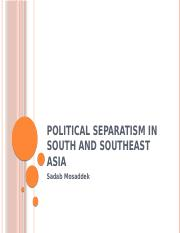 Political Separatism in South and Southeast Asia.pptx