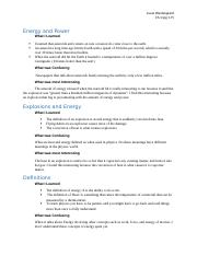 Energy and Power (pg 1-9)