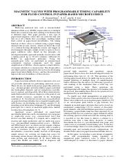 Magnetic valves with programmable timing capability for fluid control in paper-based microfluidics.p