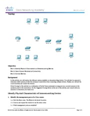 6.3.1.10 Packet Tracer - Exploring Internetworking Devices Instructions