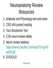 NeuroAnatomy Review rev Jan2020.ppt