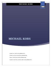 michael kors assignment.docx