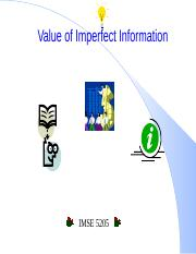 IMSE5205_Weeks11-12_Value of Imperfect Information