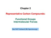 Orgo Chapter 2 - Representative Carbon Compounds