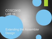 Lab 18 - ExtendingAssemblerDesign