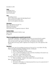 December 8 Astronomy Notes
