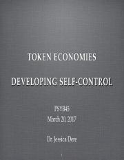 Lec 11 Token economy & develop self control