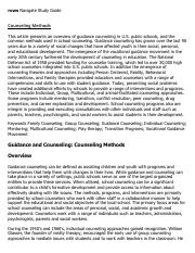Counseling Methods Research Paper Starter - eNotes.pdf
