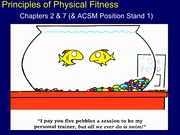 KIN 275 Principles of Physical Fitness