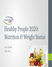 HP2020- Nutrition and Weight Status