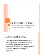 Part 5 - Controlling