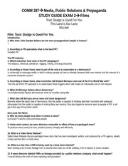 COMM 387 Film Study Guide Part 2