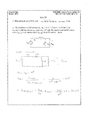 Quiz 31 Solution on Linear Circuit Analysis II