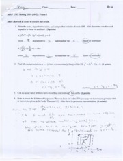 MAP 2302 Exam 1 Solutions (08-2)