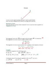 Vectors in the plane