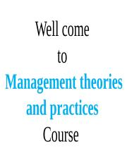 2. Management Practice and Theory PPT
