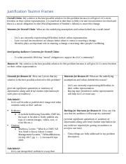 Toulmin Frames - Justification - Checkpoint Assignment Sheet.docx