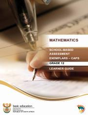 SBA Maths Learner Guide English
