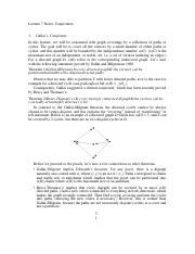 Lecture 7 Notes Conjectures