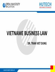 TVD - Vietnam business law - Topic 1