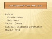 Leadership on the Line-Gumbs