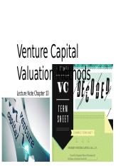 Chapter10-Venture Capital Valuation Methods.pptx