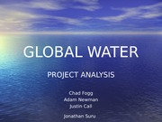 Global Water-Analysis