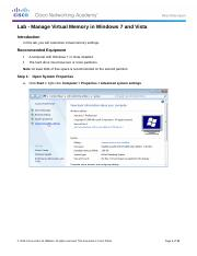 Sky - 6.1.2.12 Lab - Manage Virtual Memory in Windows 7 and Vista