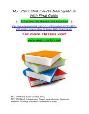 ACC 290 Entire Course New Syllabus With Final Guide.doc