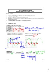 5.1 Graphs of Sine, Cosine, and Tangent Functions SOLUTIONS
