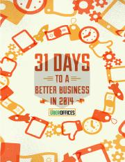 31 Days To A Better Business in 2014.pdf