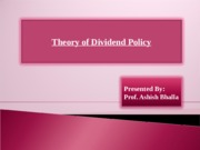 Dividend Theory
