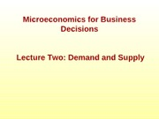 2_Lecture Two Demand&Supply