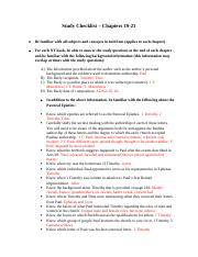 Study Checklist - Chapter 19-21.docx