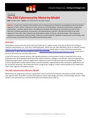 ESG-Brief-Cyber Security-Maturity-Model-Oct-2014