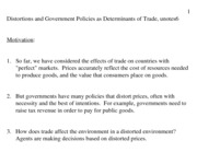 Distortions and Government Policies as Determinants of Trade