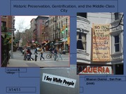 17 Historic Pres, Gentrification, and Middle Class