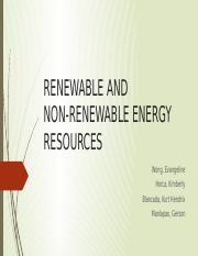 RENEWABLE AND NON-RENEWABLE SOURCES OF ENERGY.pptx