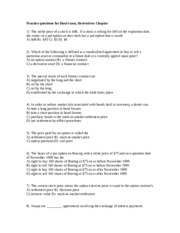 Practice Questions for Exam 3, Derivatives chapter
