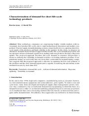 Characterization of demand for short life-cycle technology products.pdf