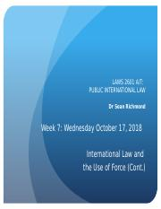 PIL Week 7 - IL and the Use of Force - Slides - Wed Oct 17, 2018.pptx