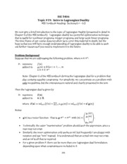 Topic 19 - Intro to Lagrangian Duality