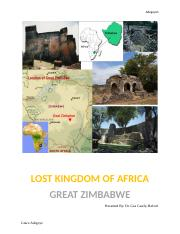 visual analysis of Great Zimbabwe documentary