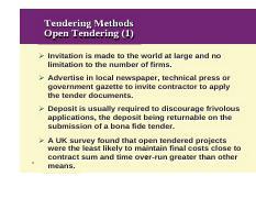 open tendering method