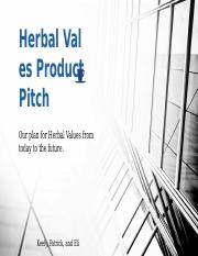 Herbal Values Product Pitch