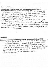 French III Short Answer Worksheet
