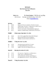 MCB+4203+Syllabus-Fall+2012 PATHOGENS