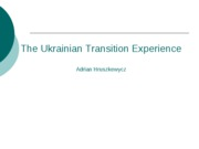 The_Ukrainian_Transition_Experience