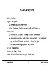 Bond Analytics