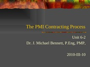 UNIT 6.2 2010-III-10 PMI contracting process